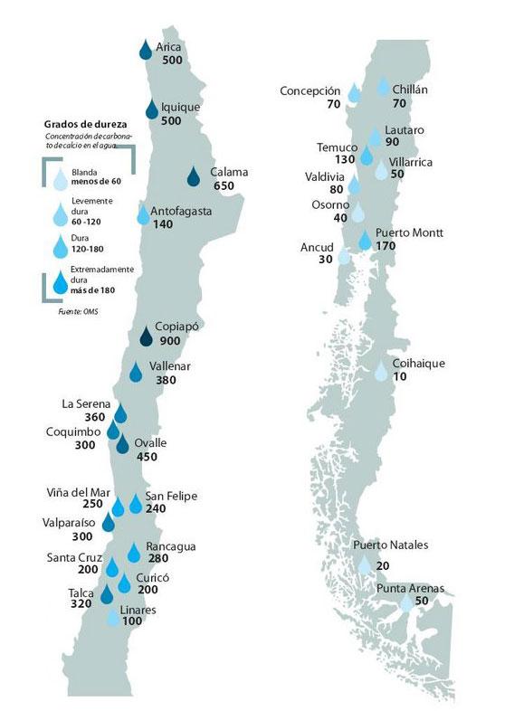 Mapa Sarro en Chile