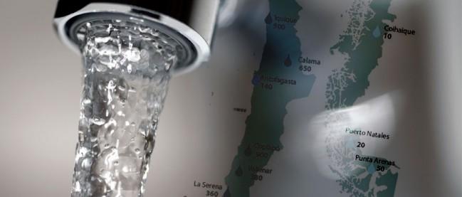 Mapa del Sarro en Chile